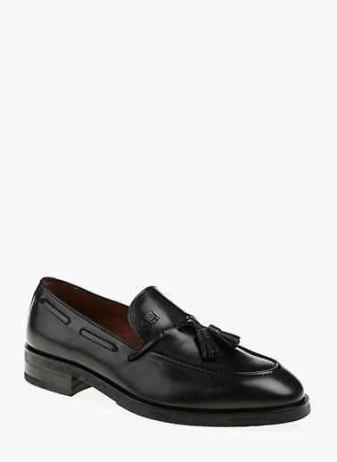 George Hogg %100 Deri Loafer Ayakkabı Siyah